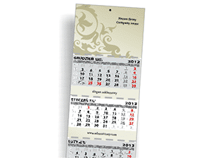 Wall calendars 3-padded