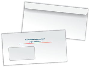 Envelopes custom overprinted