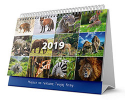 Multi-panel spiral calendar calendar - Animals